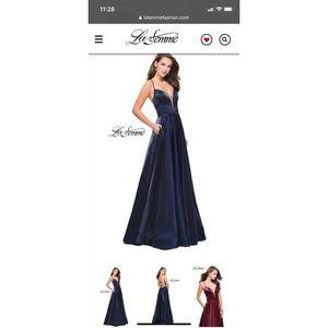 La Femme Prom dress strappy back size 2
